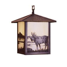 "9"" Sq Seneca Moose at Lake Mini Pendant"
