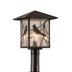 """12.5"""" Sq Sequoia Song Bird Post Mount"""