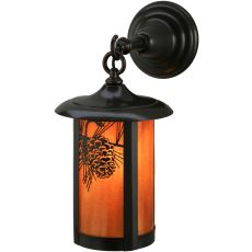 """7.5"""" W Fulton Winter Pine Hanging Wall Sconce"""