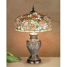 """24.5"""" H Tiffany Rosebush Table Lamp"""