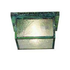 "10"" Sq Hyde Park Spider Web Flushmount"