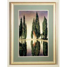 "24"" W X 33"" H Maxfield Parrish Reservoir Framed Art"