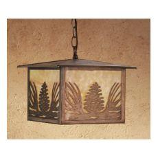 "11"" Sq Mountain Pine Lantern Pendant"