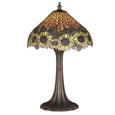 "18.5"" H Wicker Sunflower Accent Lamp"