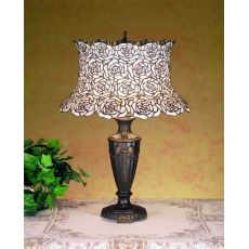 "23.5"" H Blooming Rose Table Lamp"