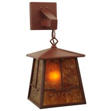 """7"""" W Bungalow Valley View Hanging Wall Sconce"""