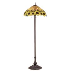 "63"" H Wicker Sunflower Floor Lamp"