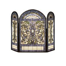 """44"""" W X 34"""" H Ribbons & Flowers Fireplace Screen"""