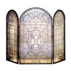 "40"" W X 34"" H Victorian Bevel Fireplace Screen"