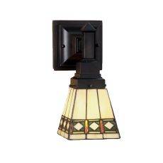 """5"""" W Diamond Band Mission Wall Sconce"""