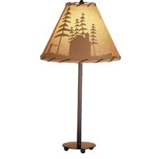 """23.5"""" H Cabin In The Woods Accent Lamp"""