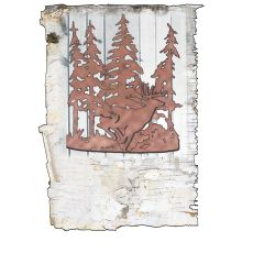 """11"""" W Deer Through The Trees Wall Sconce"""