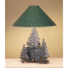 """19"""" H Grizzly Bear Through The Trees Table Lamp"""