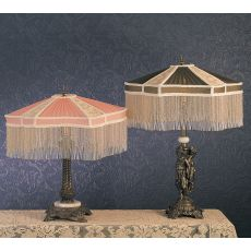 "22"" H Fabric & Fringe Persian Table Lamp"