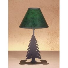"""15"""" H Tall Pines Faux Leather Accent Lamp"""