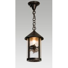 "8"" W Permit Fish Fulton Hanging Lantern Pendant"