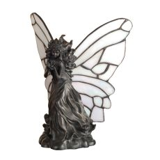 "8"" H Pearl Winged Fairy Accent Lamp"