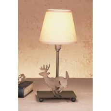 """13"""" H Lone Deer Parchment Shade Accent Lamp"""