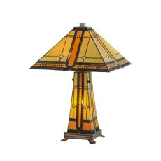 "25"" H Sierra Prairie Mission Lighted Base Table Lamp"