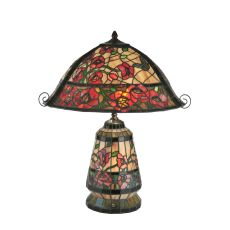 """24"""" H Begonia Lighted Base Table Lamp"""