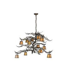 "48"" W Pine Branch Valley View 12 Lt Chandelier"