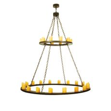 "60"" W Loxley 28 Lt Two Tier Chandelier"