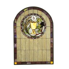 """22"""" W X 32"""" H Sacrament Stained Glass Window"""