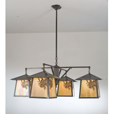 "48"" W Stillwater Winter Pine 4 Lt Chandelier"