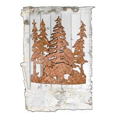 """11"""" W Bear Through The Trees Wall Sconce"""