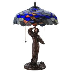 "21"" H Maxfield Parrish Griselda Table Lamp"
