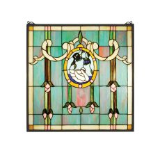 "22"" W X 22"" H Victorina Moment Stained Glass Window"
