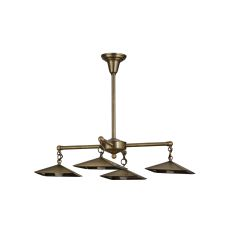 "30"" W Antique Brass 4 Lt Chandelier Hardware"
