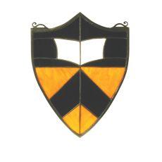 """9.5"""" W X 12"""" H Princeton Shield Stained Glass Window"""