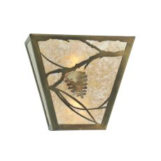 "13"" W Whispering Pines Wall Sconce"