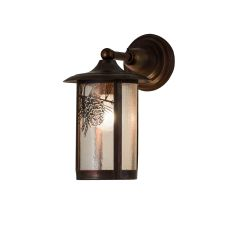 """8"""" W Fulton Winter Pine Solid Mount Wall Sconce"""