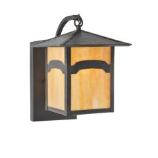 """9"""" W Seneca Mountain View Curved Arm Wall Sconce"""