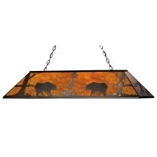 "72"" L Bear At Lake Oblong Pendant"