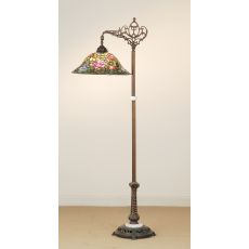 """59"""" H Tiffany Rosebush Bridge Arm Floor Lamp"""