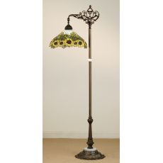 "61"" H Wild Sunflower Bridge Arm Floor Lamp"