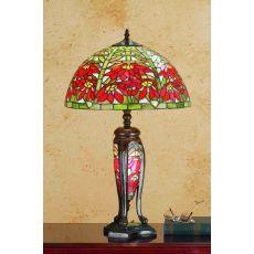 "25.5"" H POINSETTIA LIGHTED BASE TABLE LAMP"