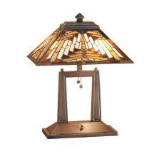 "20"" H Nuevo Mission Oblong Desk Lamp"