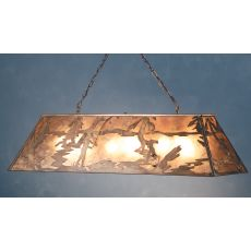 "48"" L Fly Fishing Creek Oblong Pendant"