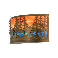 """24"""" W Tall Pines Wall Sconce"""