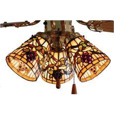 "4"" W Jeweled Grape Fan Light Shade"