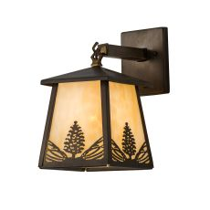 """7"""" W Stillwater Mountain Pine Hanging Wall Sconce"""