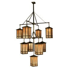 "48"" W Church Street 9 Lt Hanging Lantern Chandelier"