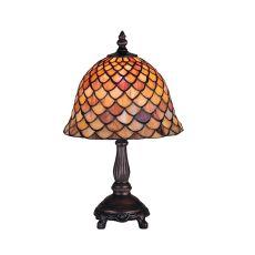 "13.5"" H Tiffany Fishscale Mini Lamp"
