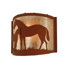 "12"" W Mare & Foal Wall Sconce"