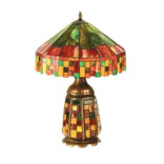 """21.5"""" H Cottage Lighted Base Table Lamp"""