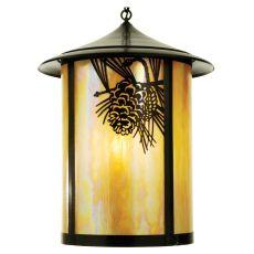 """24"""" W Fulton Winter Pine Lantern Pendant"""